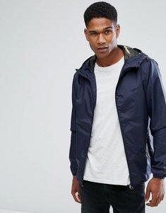 Read more about Jack jones originals lightweight jacket with camo hood - total eclipse