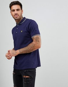 Read more about Lyle scott tipped polo shirt in navy - navy