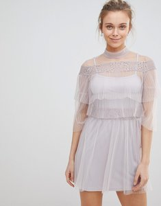 Read more about Glamorous mesh frill dress - dusty lilac