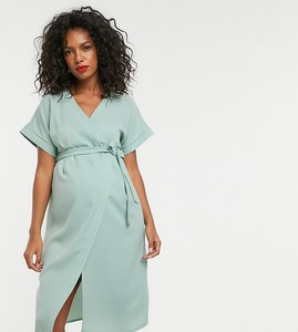Read more about Asos design maternity wrap midi dress