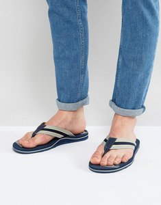 Read more about Timberland wild dunes logo leather flip flops - navy
