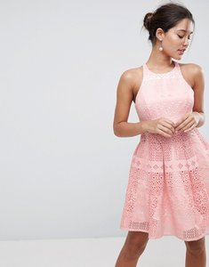 Read more about Asos salon laser cut mini prom dress - nude