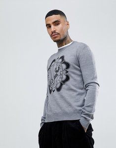 Read more about Versace jeans jumper in grey with chest logo - grey