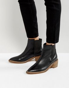 Read more about Park lane leather mid heel chelsea boots - black leather