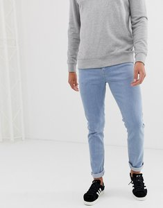 Read more about Asos skinny jeans in flat light wash - light wash blue