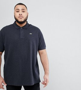 Read more about Lacoste big fit logo polo shirt in charcoal - charcoal