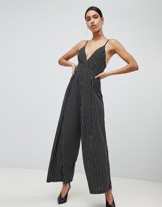 Read more about Parallel lines wide leg jumpsuit in stripe - black white stripe