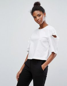 Read more about Only bow sleeve blouse - white