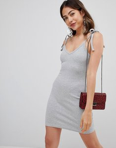Read more about Missguided ribbed bodycon mini dress - grey
