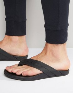 Read more about Toms semana leather flip flops - black