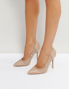 Read more about Qupid mesh point high heels - rose gold