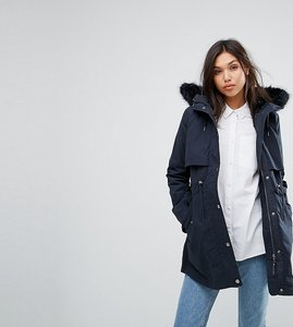 Read more about Parka london classic parka with faux fur lined hood exclusive - navy navy fur