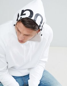 Read more about Hugo exploded logo hoodie sweat in white - 100