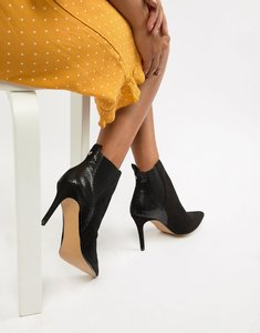 Read more about Head over heels ossana pointed heeled boots - black