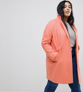 Read more about Asos curve pocket detail coat - pink
