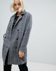 Read more about Blend she sanna check wool blend tailored coat - grey check