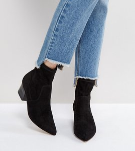 Read more about Asos regional point sock boots - black