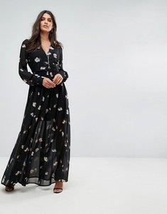 Read more about Vero moda floral maxi dress - black