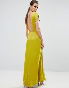Read more about Asos open square back maxi dress - yellow
