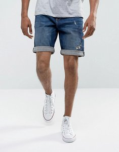 Read more about Esprit denim shorts in slim fit with repair details - denim 903