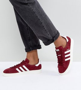 Read more about Adidas originals campus trainers in burgundy - red
