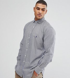 Read more about Polo ralph lauren tall oxford shirt in navy gingham - navy white