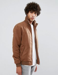 Read more about Clean cut copenhagen premium wool twill bomber jacket - tan