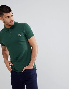 Read more about Ps paul smith slim fit zebra logo polo in green - 33