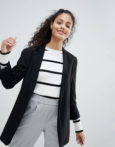 Read more about Bershka longline blazer - black