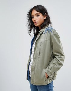 Read more about Maison scotch army jacket with embroidered shoulder - 65 military green
