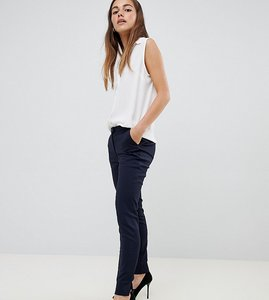 Read more about Y a s petite ecco tailored ankle length cigarette trouser in navy