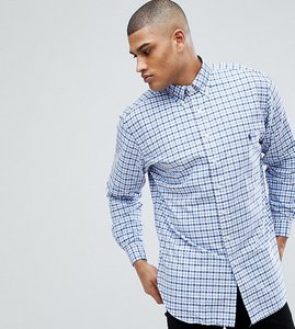 Read more about Polo ralph lauren tall gingham check oxford shirt in blue white - multi blue white