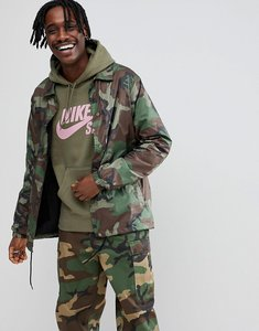 size 40 9945b d6dbb Read more about Nike sb camo coach jacket in green ah5505-222 - green