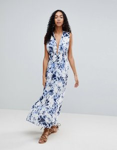 Read more about Liquorish tie dye maxi beach dress with side split