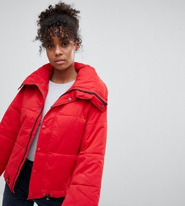 Read more about Mink pink strike puffer jacket - red