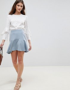 Read more about Asos design tailored fit and flare mini skirt - mint