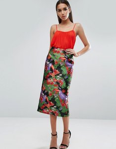 Read more about Asos pencil skirt in pelican jacquard - multi