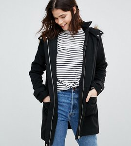 Read more about New look tall duffle coat - black