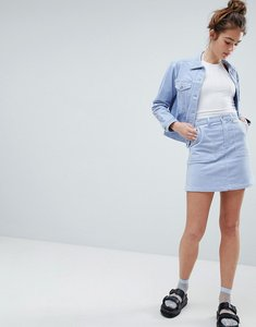 Read more about Monki a line cord skirt co-ord - blue