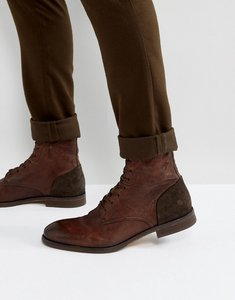 Read more about H by hudson yoakley leather lace up boots - brown
