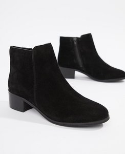 Read more about Rule london suede mid heel boot - black suede