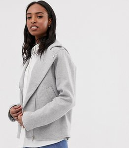 Read more about Asos tall formal biker jacket - grey