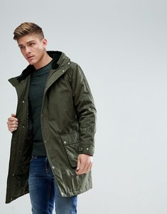 Read more about Asos heavyweight parka with embroidery in khaki - khaki