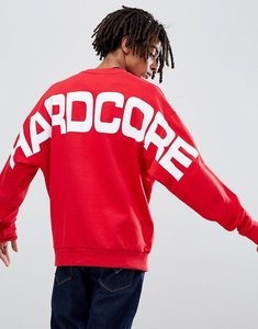 Read more about Asos design oversized sweatshirt in red with back print - red