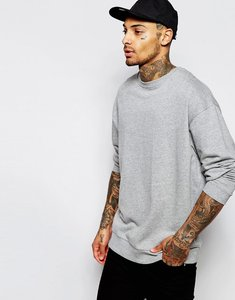 Read more about Asos oversized sweatshirt in grey marl - grey marl