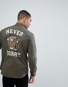 Read more about Jack jones originals military shirt with back print in regular fit - crocodile