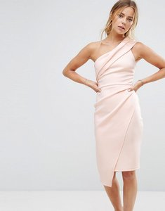 Read more about Miss selfridge one shoulder dress - nude