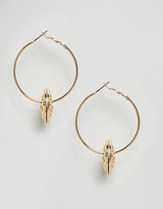 Read more about Designb london charm hoop earrings - gold