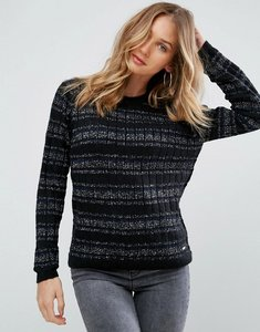 Read more about Pepe jeans osha metallic yarn in alpaca wool blend jumper - black