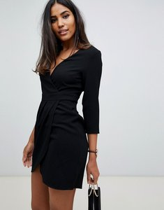 Read more about Asos design mini dress with wrap skirt